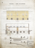 The new (side) galleries (side sections and elevations) (BRLSI) 9th Sept 1889 Charles W Dymond Plan 2