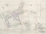 Plan of roads and approaches in the neighbourhood of Bath Markets (Guildhall) - Manners & Gill 1863-90