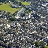 1981 Aerial view of Bath showing the city centre, looking towards the Recreation Ground 29 Sept