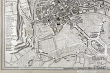 A New and Correct Plan of the City of Bath 1817 - detail