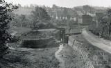 The bomb damaged Kennet and Avon Canal, Widcombe, Bath 1942