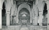Interior of the church at Edington c.1920s