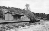 Monkton Combe station, shortly before the track was dismantled c.April 1958