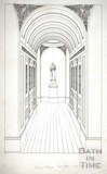 Domed Alcove, First Floor with Figure, Beckford's Tower, Lansdown, Bath 1828