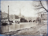 Pulteney Bridge and Monk's Mill, Bath c.1870