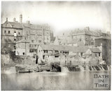 Weirs below Pulteney Bridge, Bath c.1855