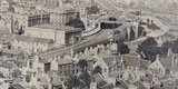 Panorama of City of Bath from Beechen Cliff pre-1870 - detail