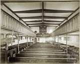 Interior looking west before rebuilding of 1885, St. Michael's Church, Twerton, Bath c.1884