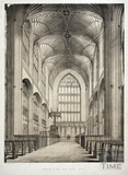 Interior, Bath Abbey, Bath c.1840