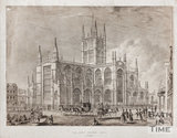 North east view of Bath Abbey, Bath c.1836