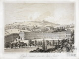 Royal Crescent from the Wells Road, Bath c.1850