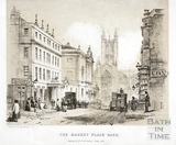 The Market Place, White Lion Hotel and High Street, Bath 1842