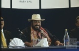 Luciano Pavarotti at the Spa 'Opening', Bath 6 August 2003