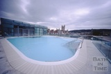 A view of the rooftop pool, Thermae Bath Spa, August 2003