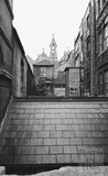 View from New King Street, looking up the side of the Christadelphian Hall, Bath 1972