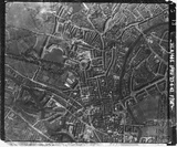 1942 Aerial view of Bath after the Bath Blitz, 27 April