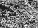 c.1930 Aerial view of Bath showing Sawclose and the rear of the Mineral Water Hospital