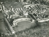 c.1930 Aerial view of the Royal Crescent and St James Square, Bath, looking north