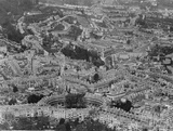 c.1930 Aerial view of Bath looking east over the Circus and Assembly Rooms towards Snow Hill