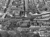 c.1930 Aerial view of Bath looking north over St Marks Church, Southgate and up Newark Street