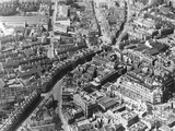 c.1930 Aerial view of Bath with the Gainsborough Hotel Building and Westgate Buildings in the foreground