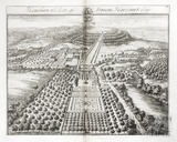Henbury, the Seat of Simon Harcourt Esq. by Johannes Kip 1712