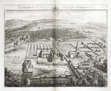Hampton, the Seat of Phillip Shappard Esq. by Johannes Kip 1712