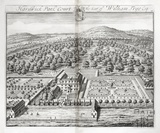 Hardwick Park Court, the Seat of William Trye Esq. by Johannes Kip 1712