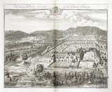 Hales Abbey, the Seat of the Lord Tracy by Johannes Kip 1712