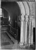 Inside Lullington Church, near Beckington, Somerset c. 13 October 1935