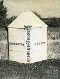 Milestone at Dunkerton between Dunkerton and Wellow c.1950s