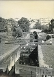 Lock flight at Widcombe down to the river level, Bath c.1950