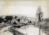 Canal bridge carrying the old Fosse Road to Radstock at Dunkerton c.1880s