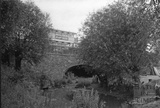 Canal bridge carrying the old Fosse Road to Radstock at Dunkerton c.1950s