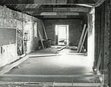 Inside the wharf building, Bradford-on-Avon during restoration July-Sept 1974