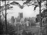 View of Wells Cathedral from Tor Hill, c.1930s