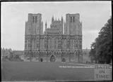 The West front and Cathedral Green, Wells c.1930s