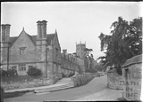 Almshouses and church at Chipping Camden c.1930s