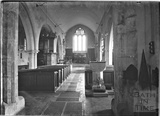 Thought to be the inside of St Peter's,  Dyrham  c.1930s