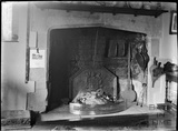 Fireplace, thought to be inside the Tudor House, Broadway, Worcestershire c.1930s
