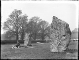 The standing stones at Avebury, Wiltshire, 1926
