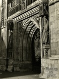 The West Door, Bath Abbey, 1950s