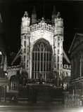 The West front of Bath Abbey from Abbey Churchyard c.1960s