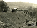 The Somerset & Dorset Joint Railway crossing Horsecombe Viaduct at Tucking Mill August 1953