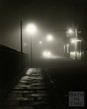 A foggy night, Grove Street, looking north from Argyle Street, 1950s