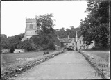 Horton Court and church, South Gloucestershire, c.1930s