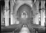 Inside All Saint's church, Wrington, North Somerset, June 1935