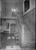 Staircase inside Horton Court, South Gloucestershire, c.1930s
