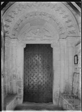 Norman Doorway, St John the Evangelist church, Elkstone, Gloucestershire, c.1934