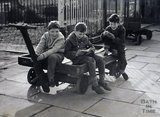 Young trainspotters at Bath Spa station c.1960s